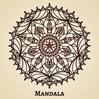 Yoga meditation mandala ornament