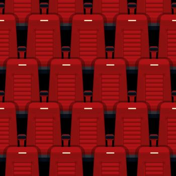 Cinema seats seamless background