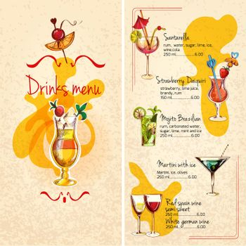 Bar Menu Sketch