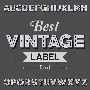 Best Vintage Label Font Poster