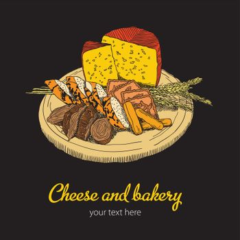 Cheese And Bakery Poster