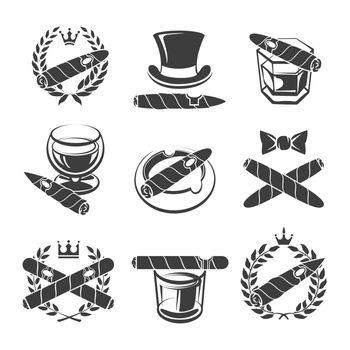 Cigars logo set