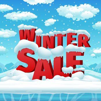 Winter sales vector poster