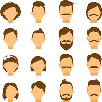 Women hairstyle and men hair style hipster