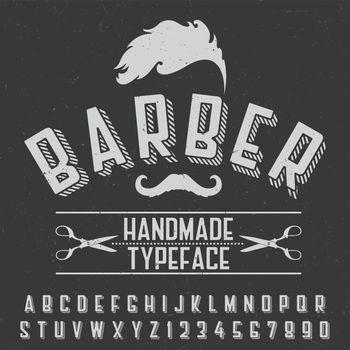 Barber Handmade Typeface Poster