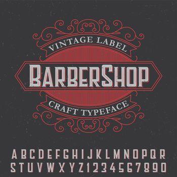 Barber Shop Vintage Label Poster