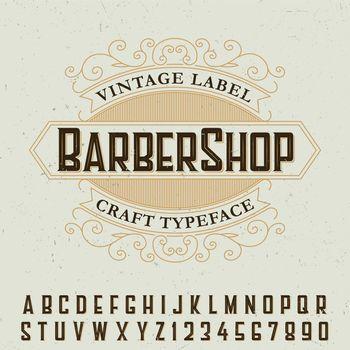 Barber Shop Label Font Poster