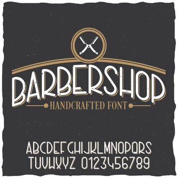 Barber Shop Typeface Poster