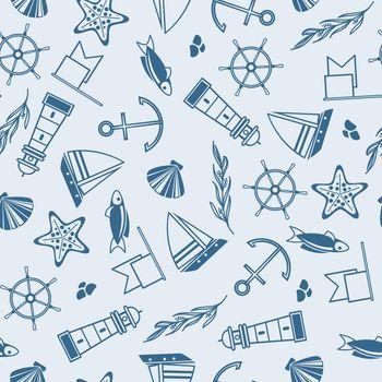 Yachting Seamless Pattern