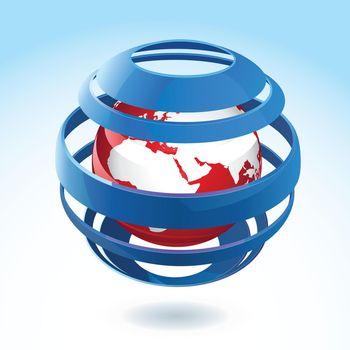Vector Earth Globe