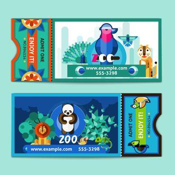 Zoo Tickets Set