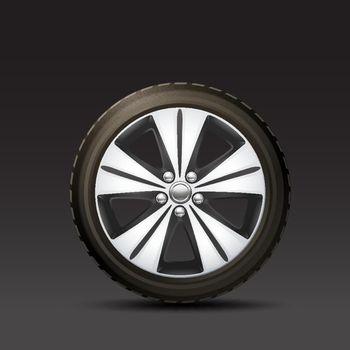 Car Wheel Black Background