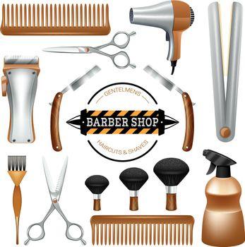 Barbershop tools set