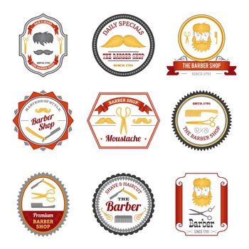 Barber Shop Emblems Colored