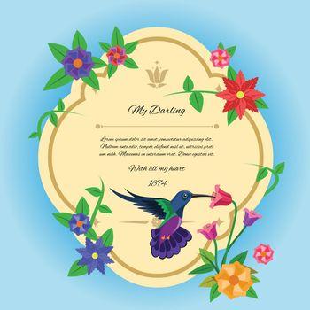 Bird And Flowers Postcard