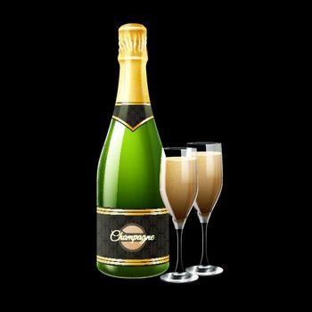 Champagne Bottle Illustration