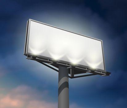 Billboard lighted night image