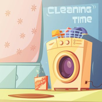 Cleaning Time Illustration