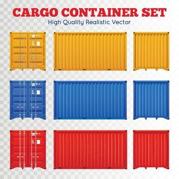 Cargo Container Transparent Set