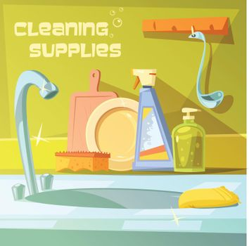 Cleaning Supplies Illustration