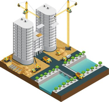 Construction Isometric Composition