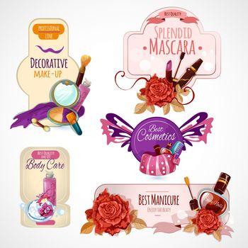 Cosmetics Label Set