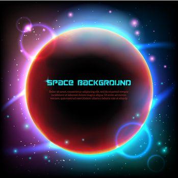 Cosmos space dark background poster print