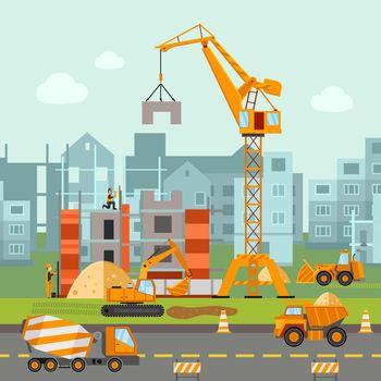 Building Work Illustration