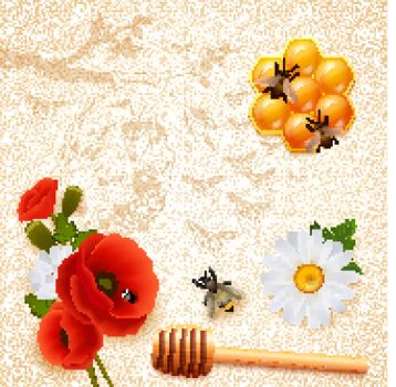 Colored Honey Composition