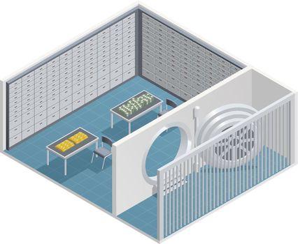 Bank Interior Isometric