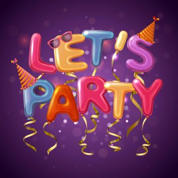 Party Balloon Letters Background