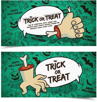 Creepy Halloween Horizontal Banners