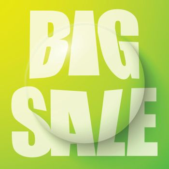 Bubble With Sale Symbol Illustration
