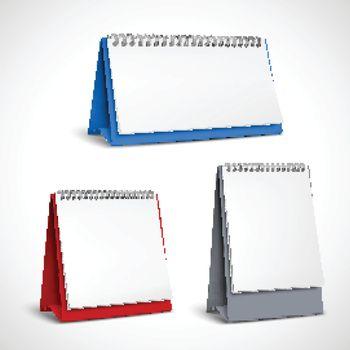 Blank Table Spiral Calendars Set