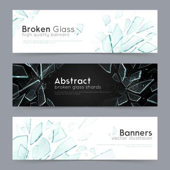 Broken Glass 3 Decorative Banners