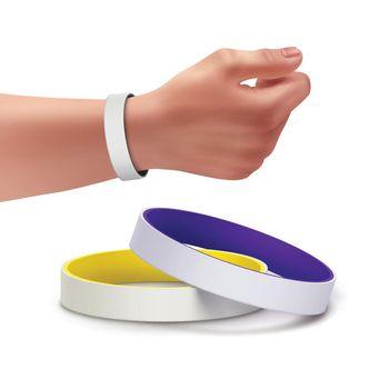 Vector rubber bracelets