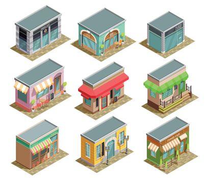 Coffee House Isometric Set