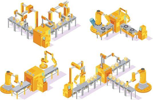 Conveyor System Isometric Design Concept