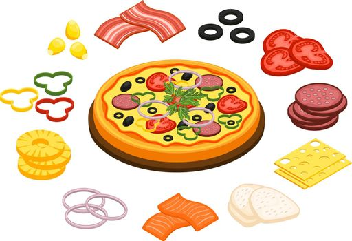Cooking Pizza Concept