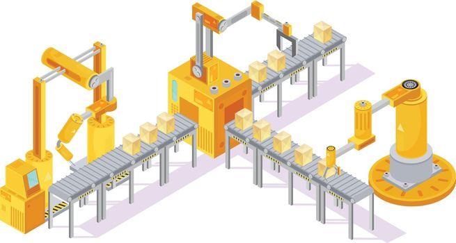 Conveyor Equipment Isometric Composition