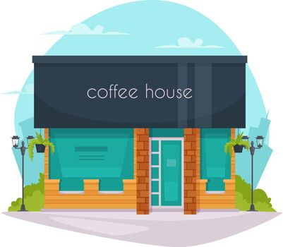 Coffee House Front Flat Icon