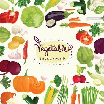 Colorful Vegetables Background