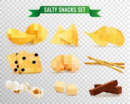 Crispy Snacks Transparent Set