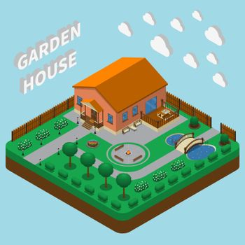 Country House Isometric Composition