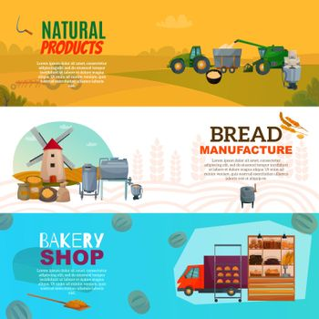 Bread Manufacture Horizontal Banners