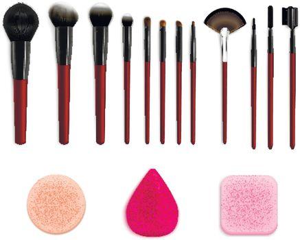 Cosmetic Makeup Tools Set