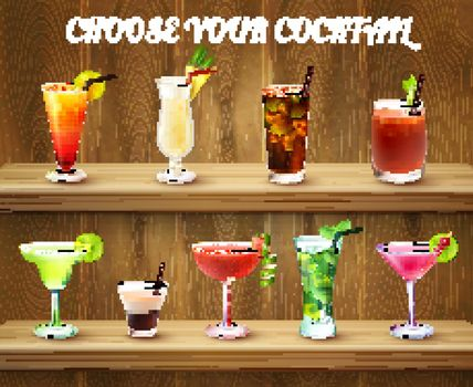Cocktail Drinks Choice Composition