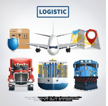 Colored Logistic Poster