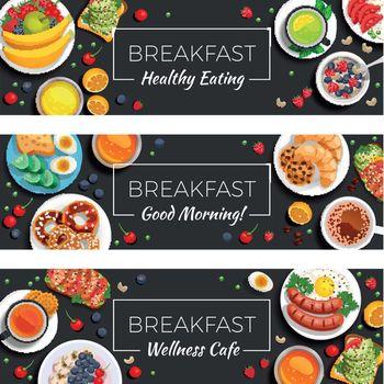 Breakfast  Horizontal Banners