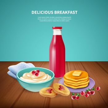 Breakfast Realistic Background